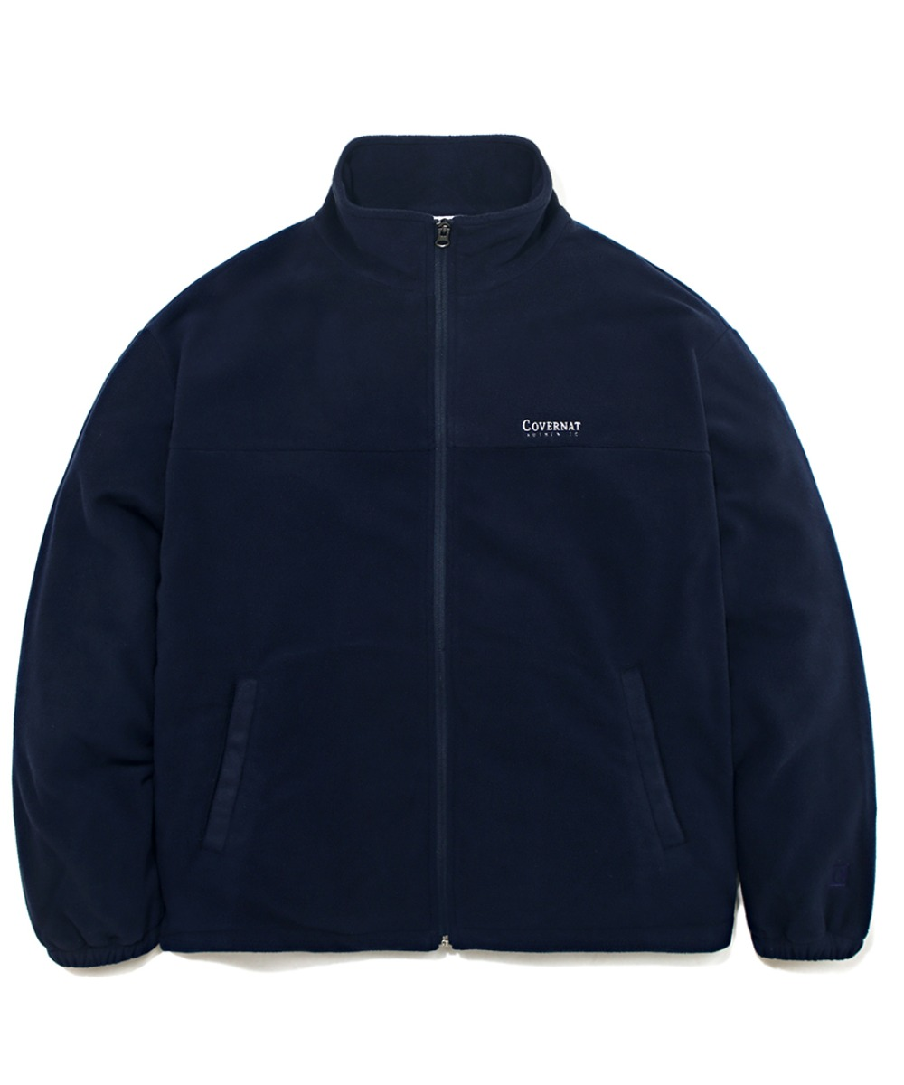 FLEECE ZIP-UP JACKET NAVY