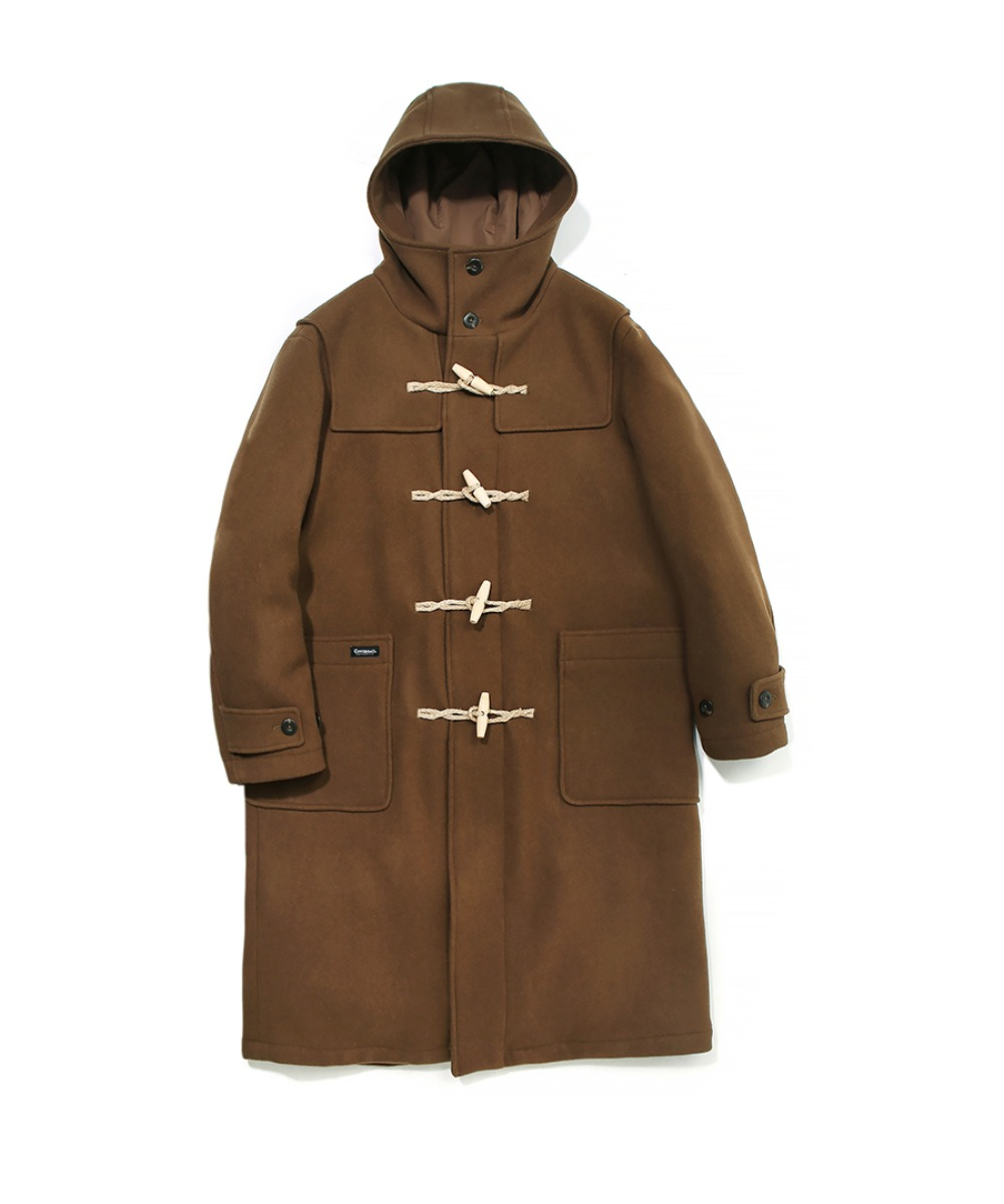 COVERNAT X TWC WOOL DUFFLE COAT CAMEL