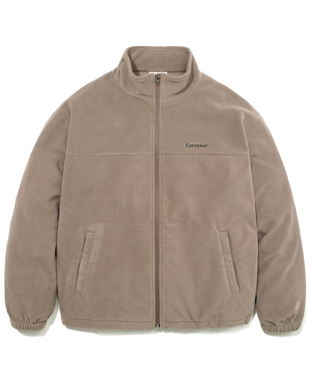 FLEECE ZIP-UP JACKET BEIGE