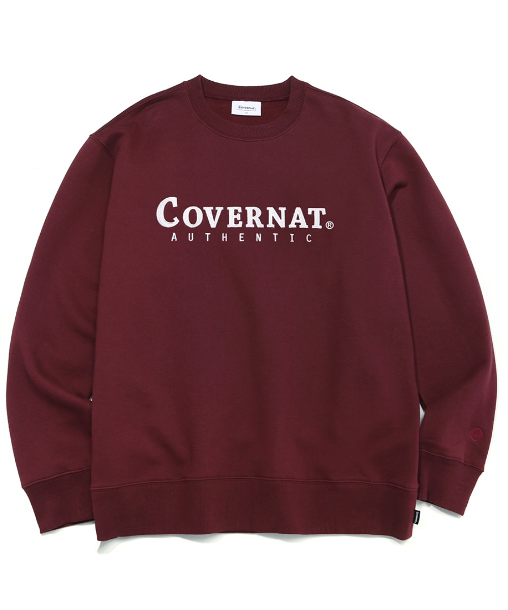 [레드벨벳 예리]AUTHENTIC LOGO CREWNECK BURGANDY