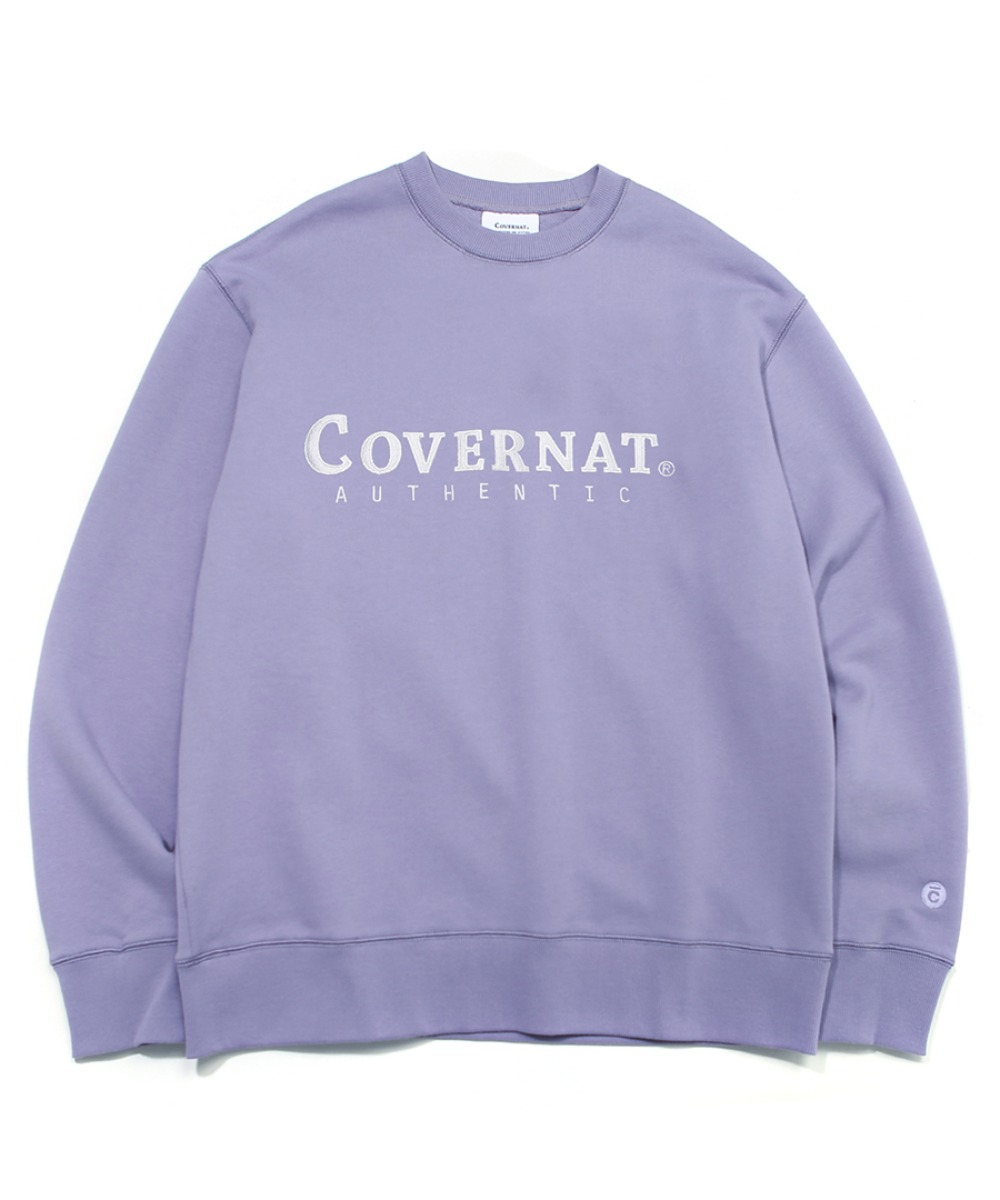 [레드벨벳 예리]AUTHENTIC LOGO CREWNECK LIGHT PURPLE