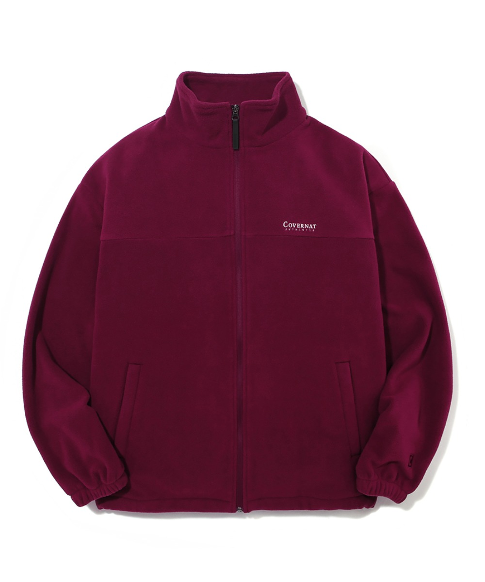 FLEECE ZIP-UP JACKET BURGANDY
