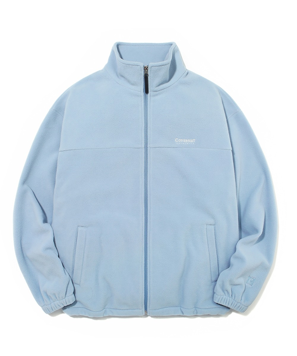 FLEECE ZIP-UP JACKET LIGHT BLUE