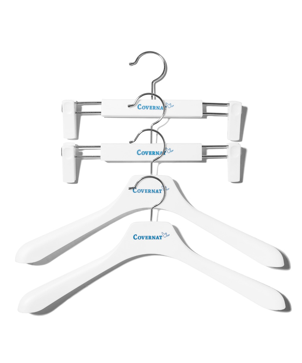 COVERNAT x M/G HANGER 4PACK WHITE