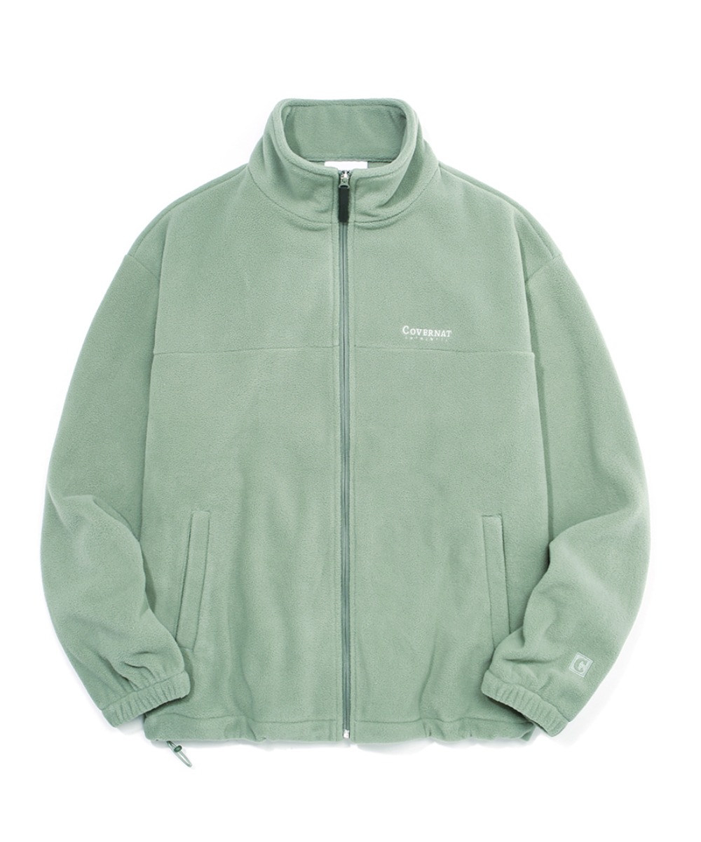 FLEECE ZIP-UP JACKET GREEN