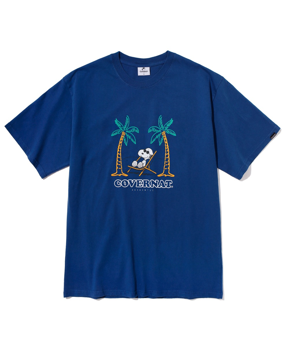 [예약발송] CXPEANUTS 70th YOLO SNOOPY TEE BLUE