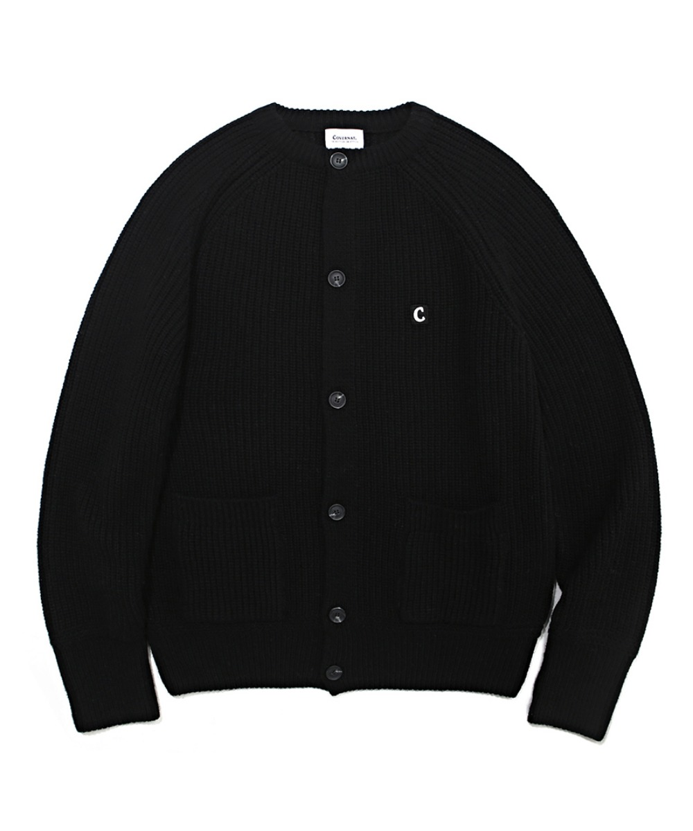 COVERNAT X TWC HEAVY GAUGE CARDIGAN BLACK