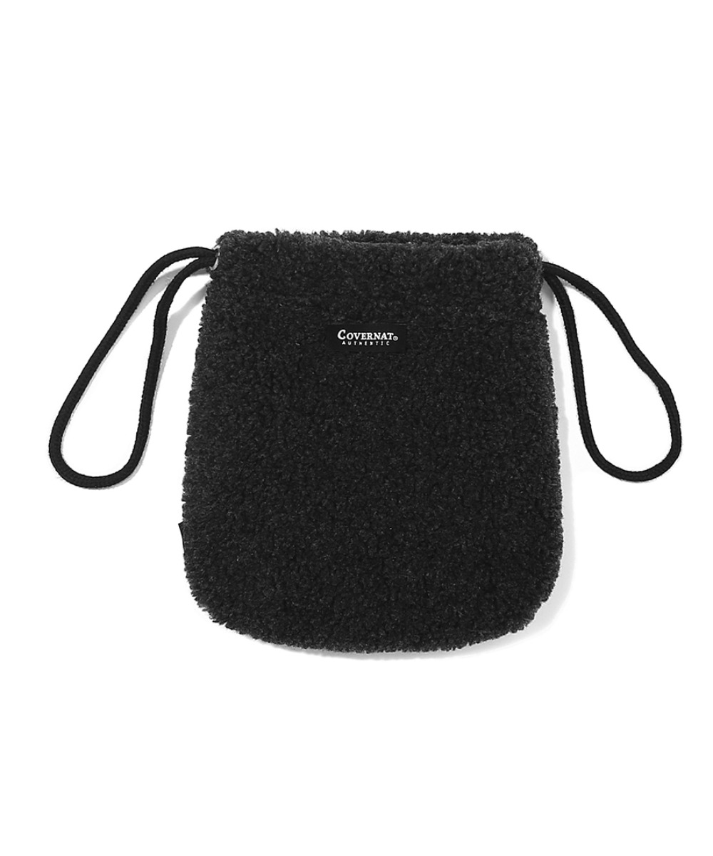 AUTHENTIC LOGO BOA POUCH CHARCOAL