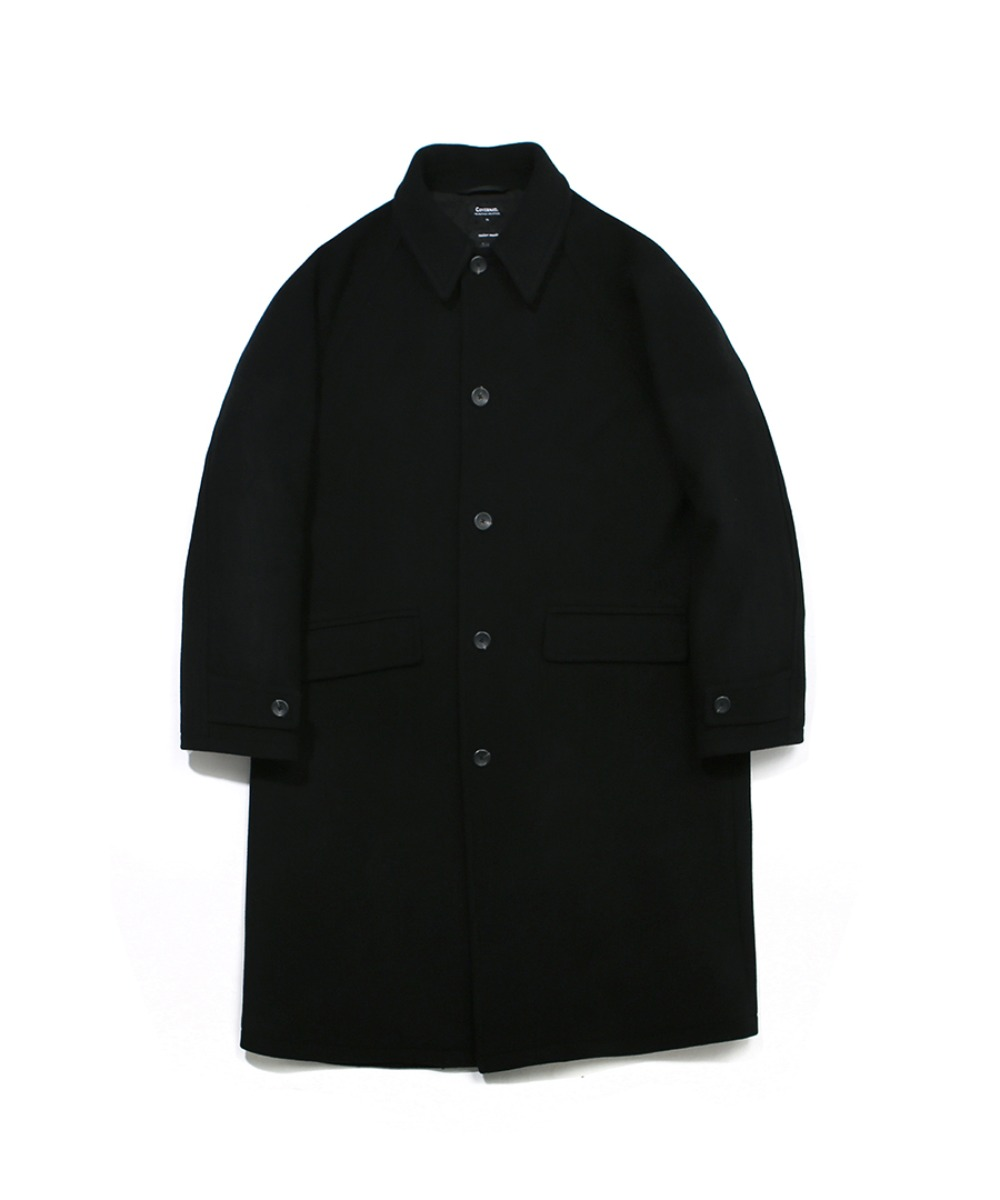COVERNAT X TWC WOOL MAC COAT BLACK