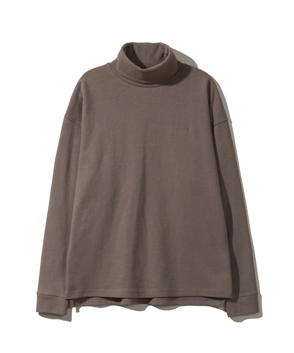 L/S ROLL NECK TEE GREIGE