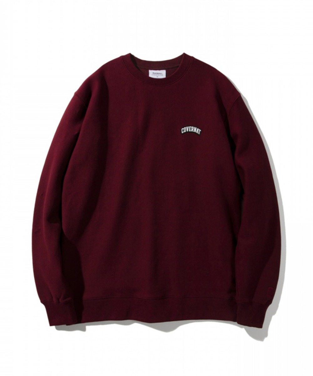 COTTON USA WAPPEN ARCH LOGO CREWNECK BURGANDY