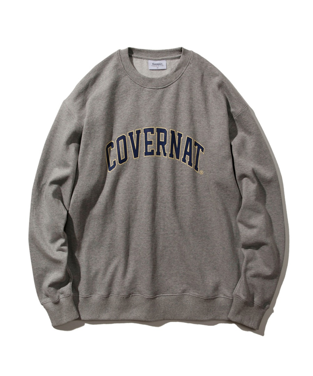 ARCH LOGO CREWNECK HEATHER GRAY