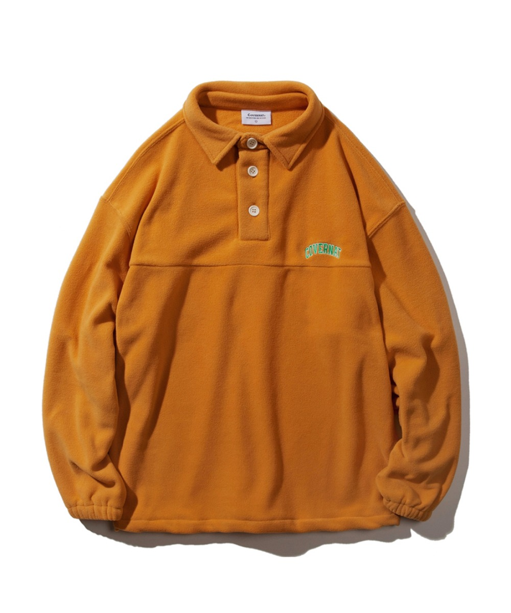 FLEECE RUGBY SHIRT ORANGE