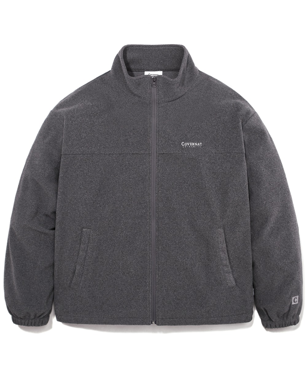 FLEECE ZIP-UP JACKET CHARCOAL