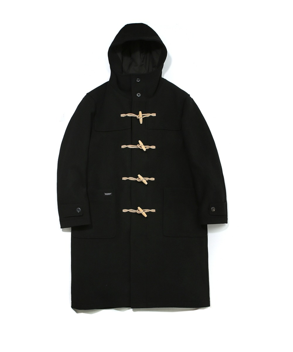 COVERNAT X TWC WOOL DUFFLE COAT BLACK