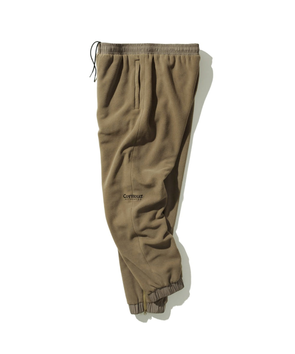 FLEECE TRACK PANTS BEIGE