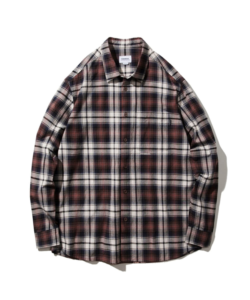 1PK TARTAN CHECK SHIRTS ORANGE