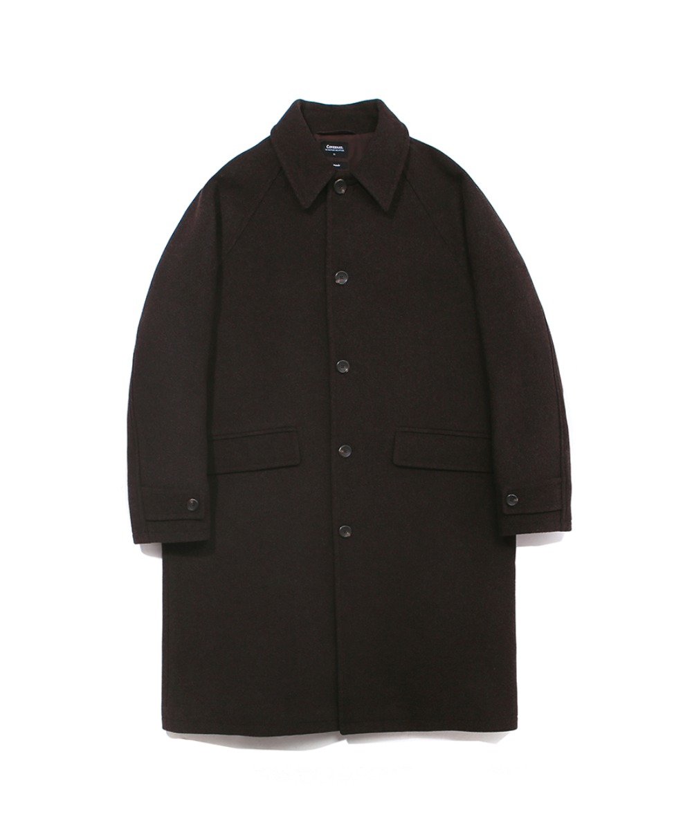COVERNAT X TWC WOOL MAC COAT MOKA BROWN