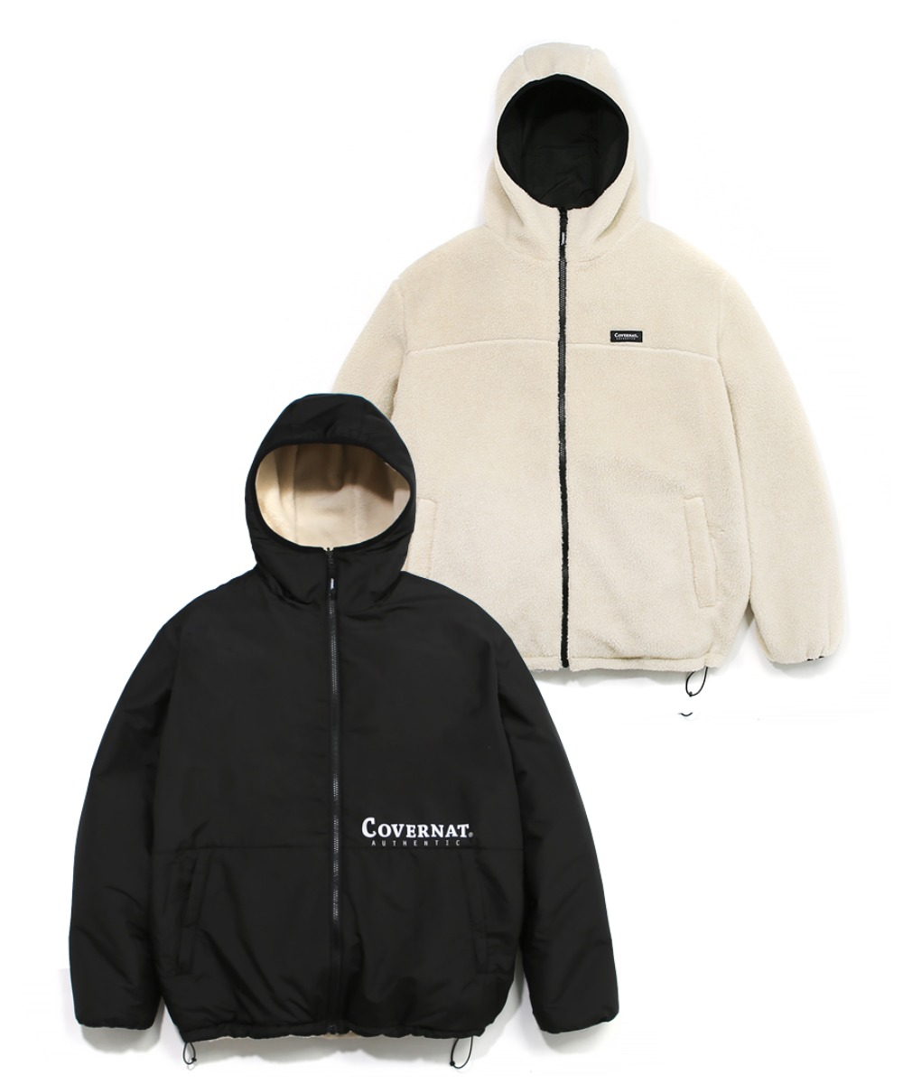 REVERSIBLE FLEECE WARM UP JACKET IV/BK