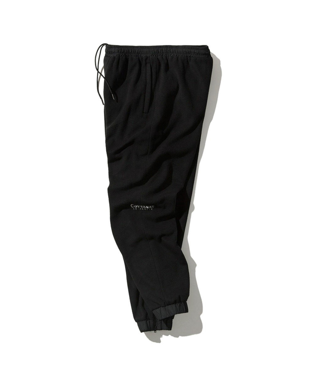FLEECE TRACK PANTS BLACK