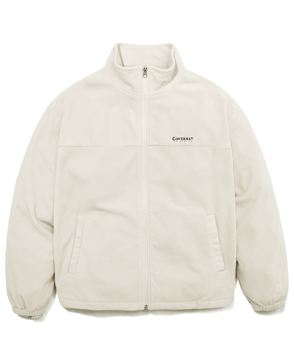FLEECE ZIP-UP JACKET IVORY