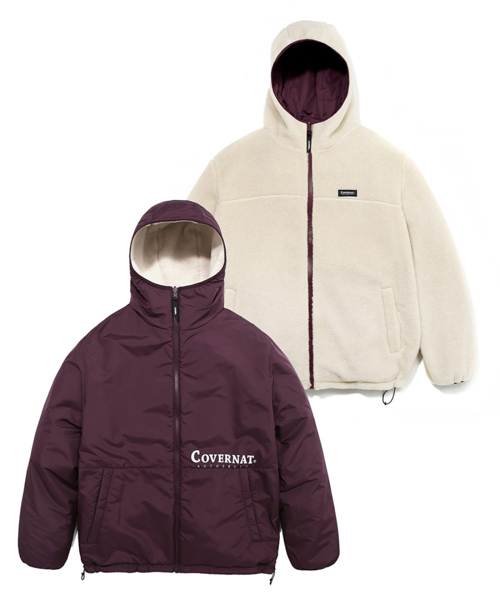 REVERSIBLE FLEECE WARM UP JACKET IV/PU