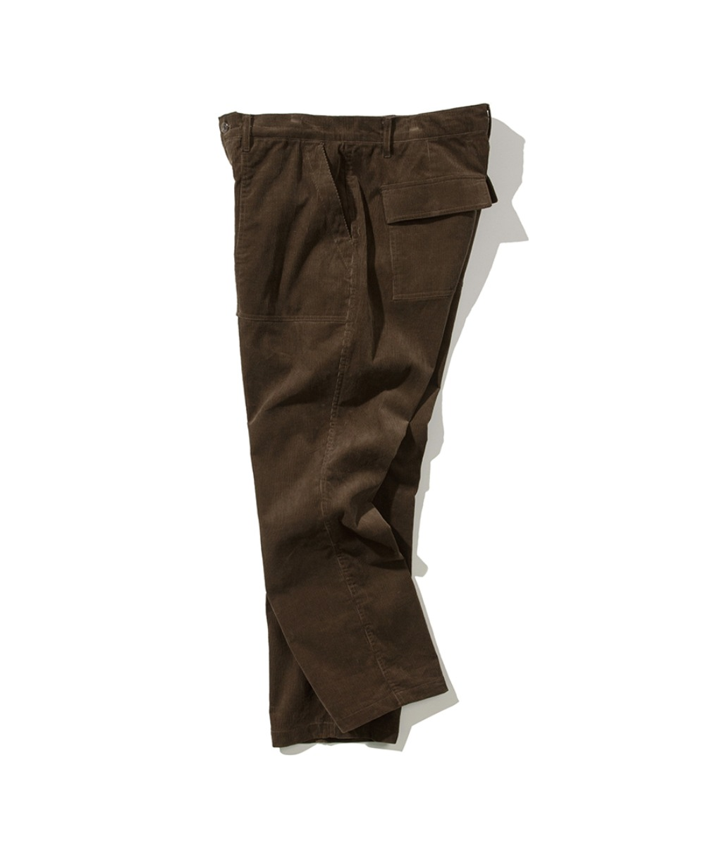 CORDUROY FATIGUE PANTS BROWN