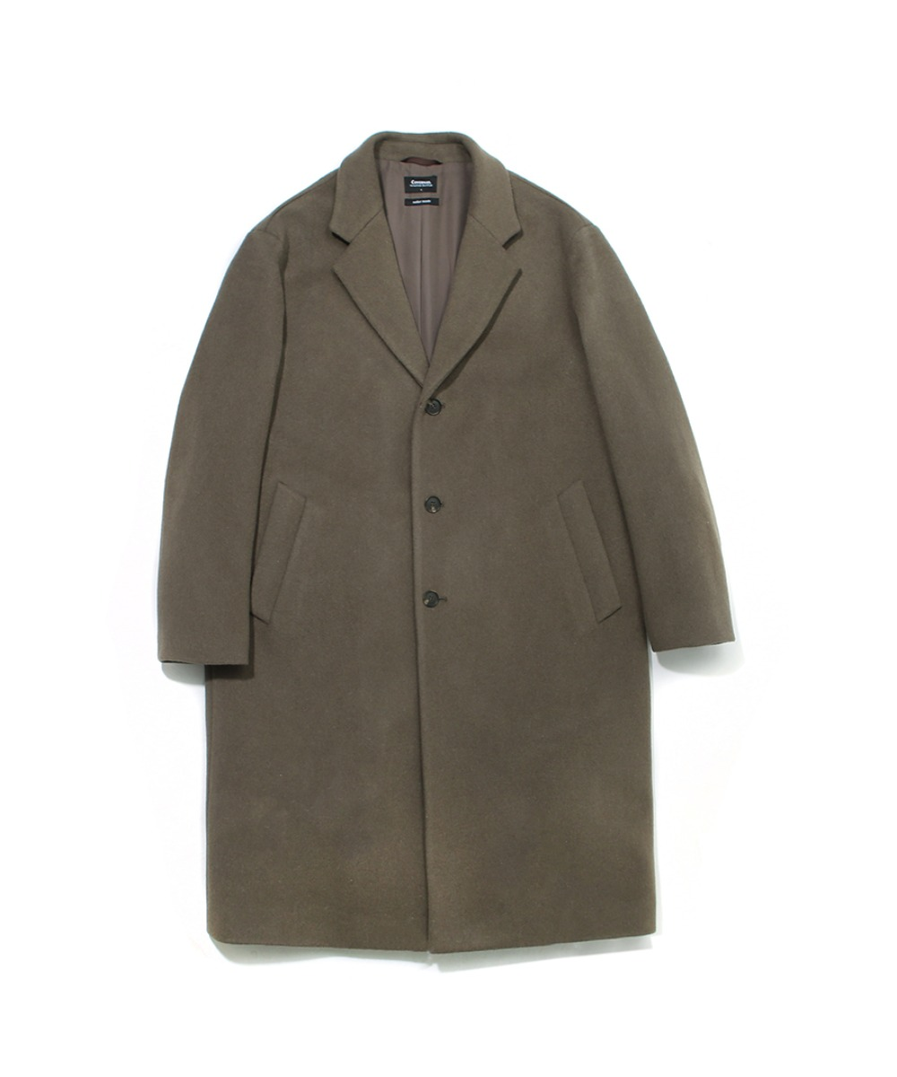 COVERNAT X TWC CASHMERE WOOL CHESTER COAT SAGE GREEN