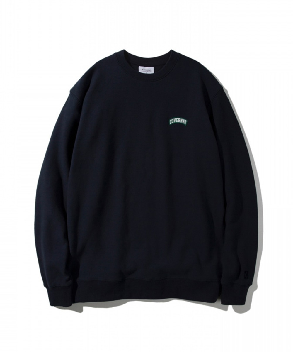 COTTON USA WAPPEN ARCH LOGO CREWNECK NAVY