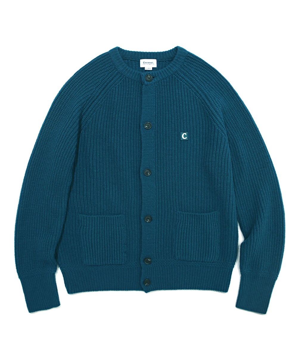 COVERNAT X TWC HEAVY GAUGE CARDIGAN GREEN