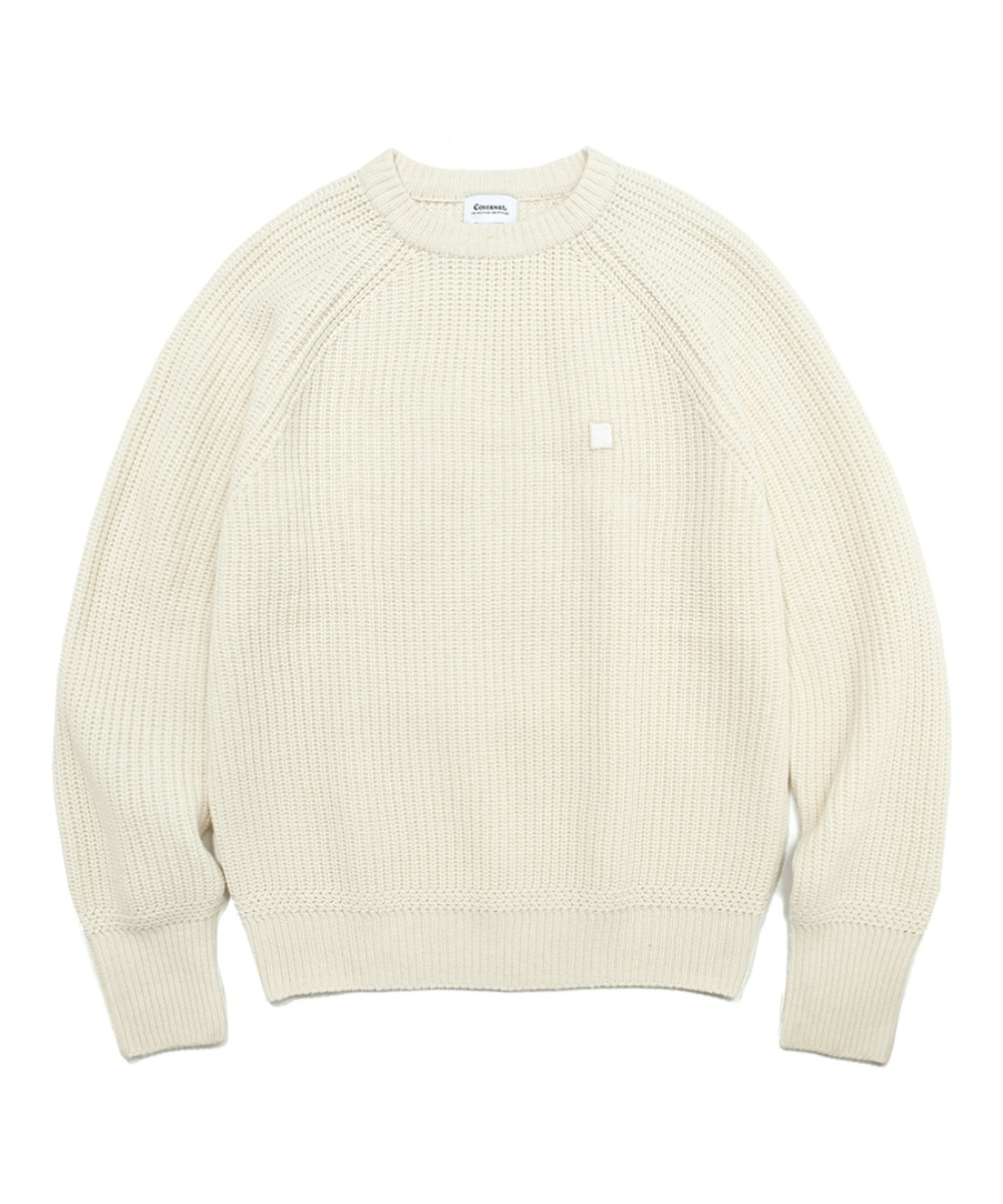 COVERNAT X TWC HEAVY GAUGE KNIT CREWNECK IVORY