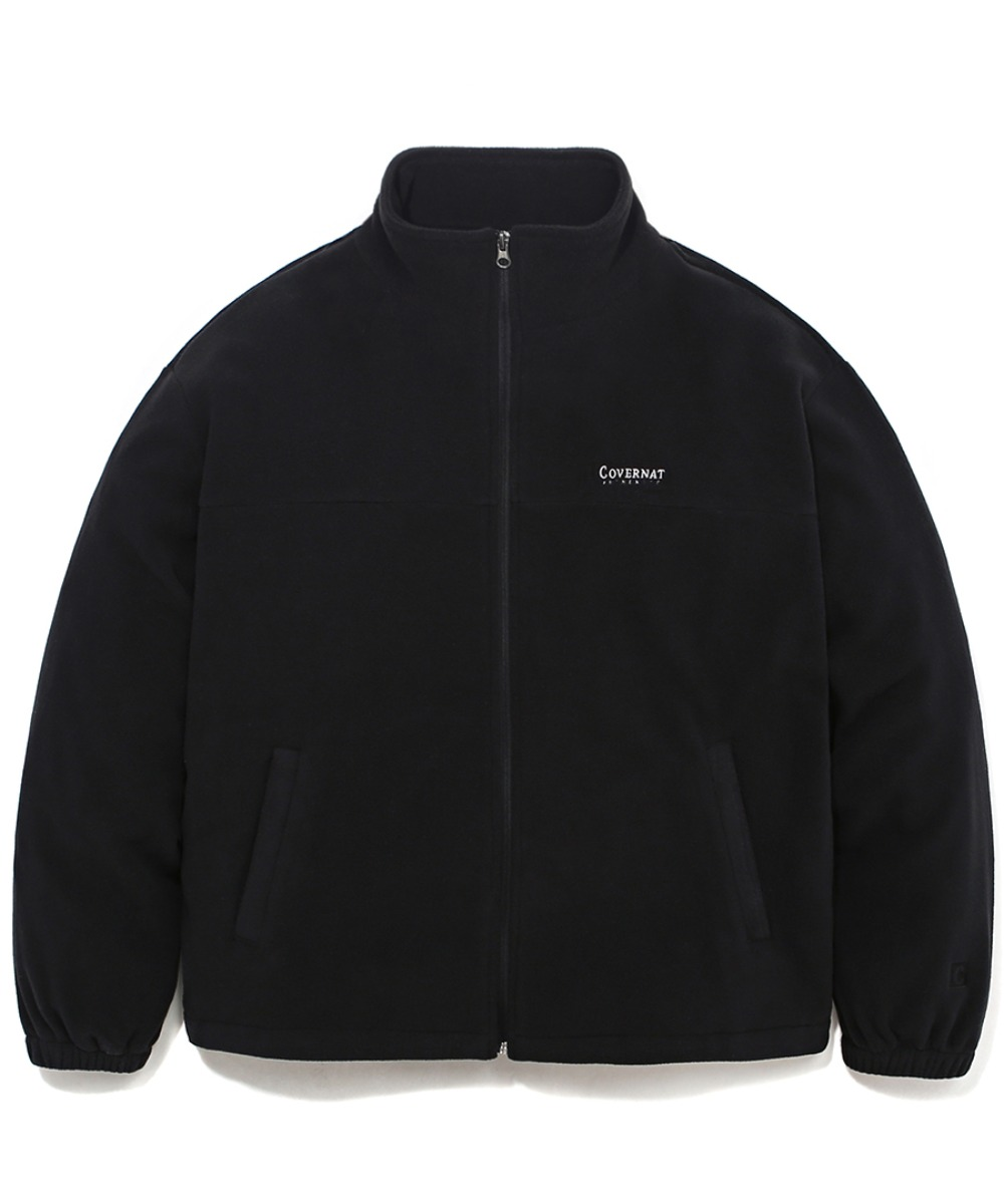 FLEECE ZIP-UP JACKET BLACK