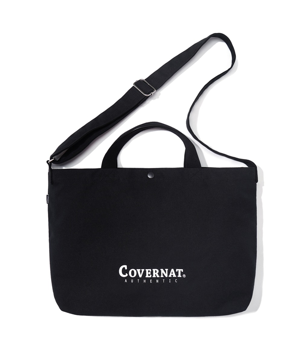 AUTHENTIC LOGO 2WAY BAG BLACK