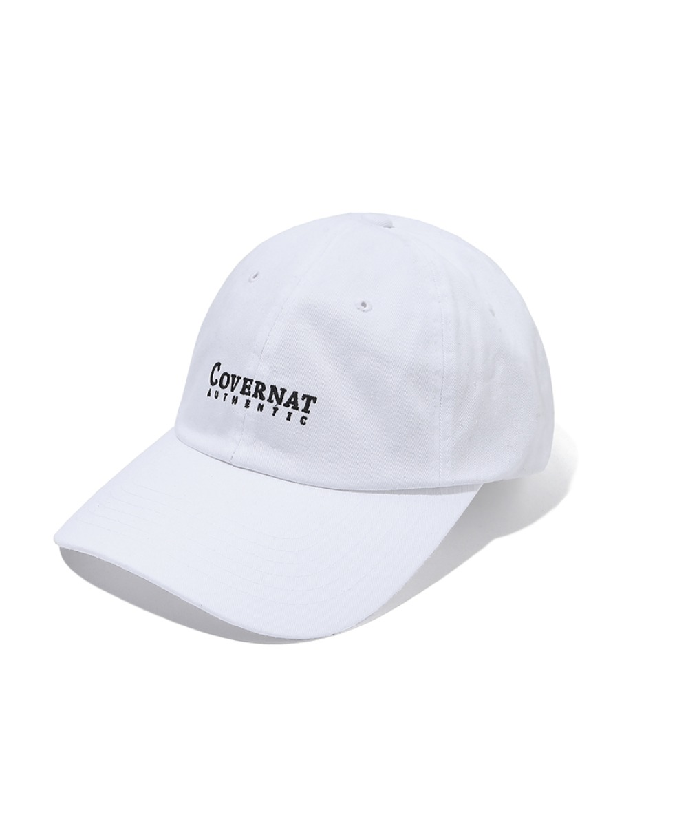 AUTHENTIC LOGO CURVE CAP WHITE