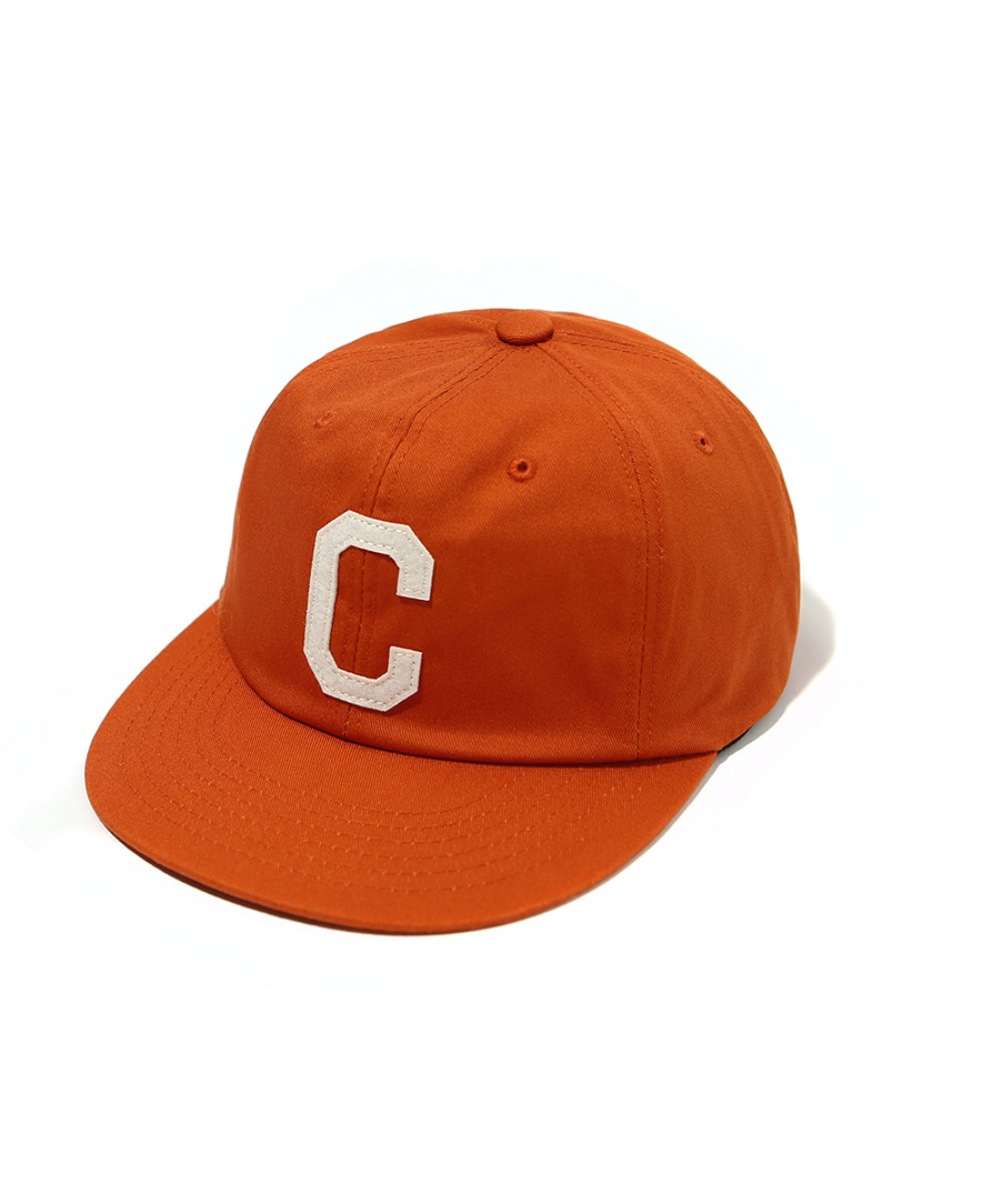 TWILL C LOGO B.B CAP ORANGE