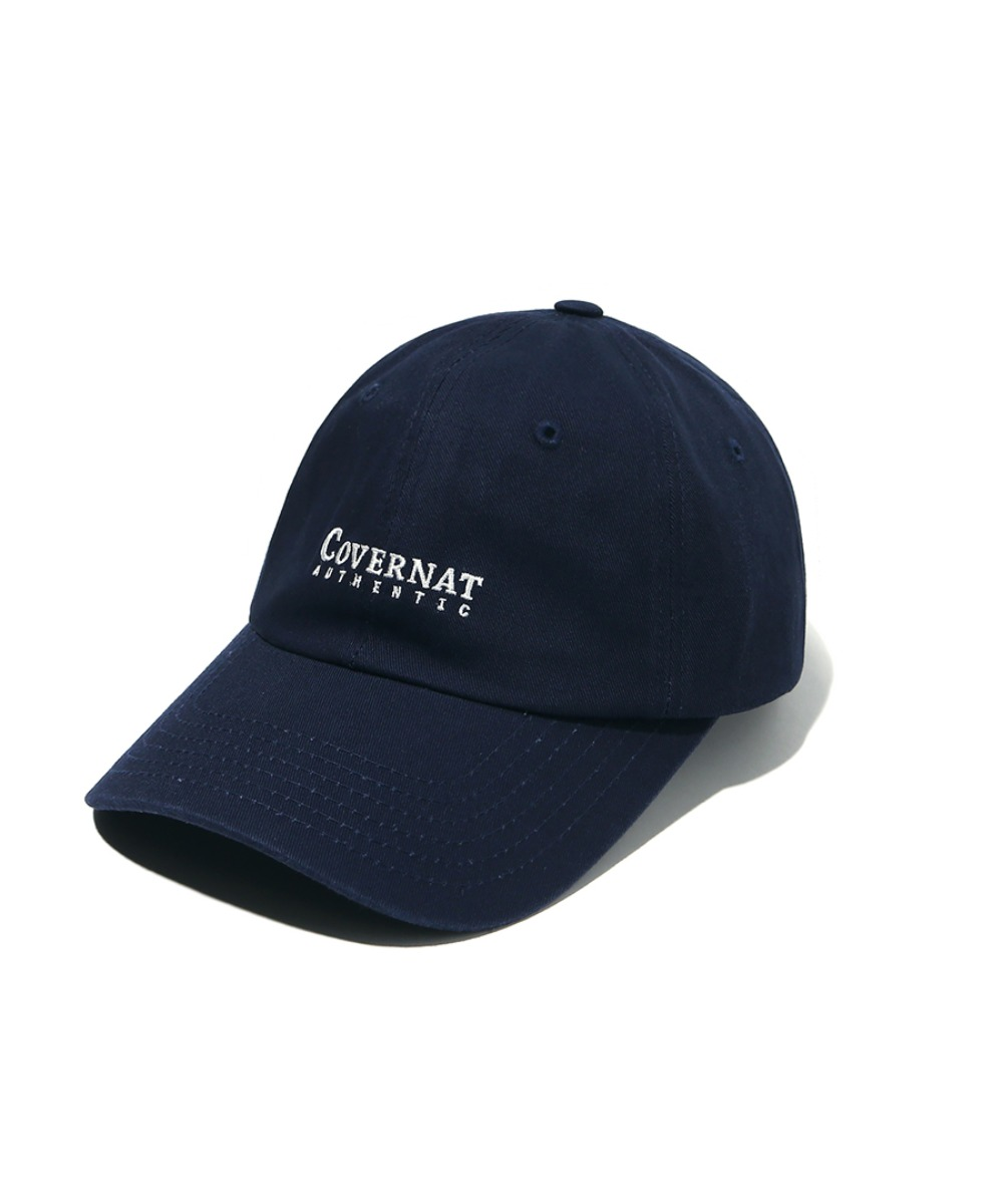 AUTHENTIC LOGO CURVE CAP NAVY