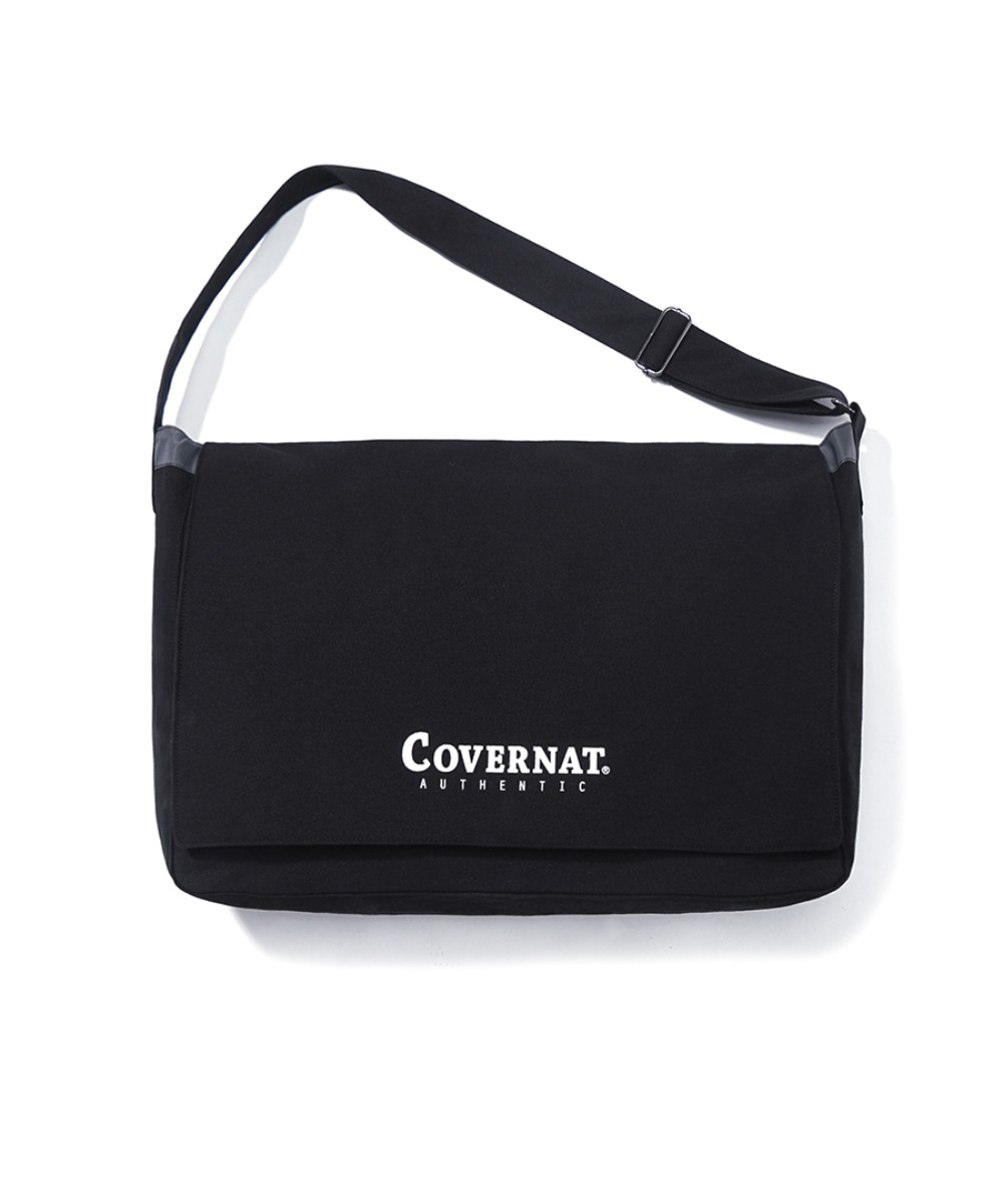 AUTHENTIC LOGO MAIL BAG BLACK