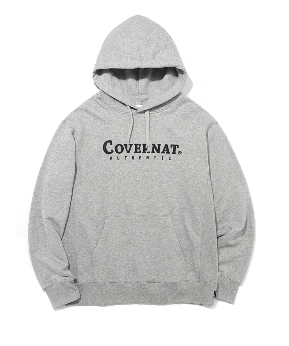 AUTHENTIC LOGO HOODIE GRAY