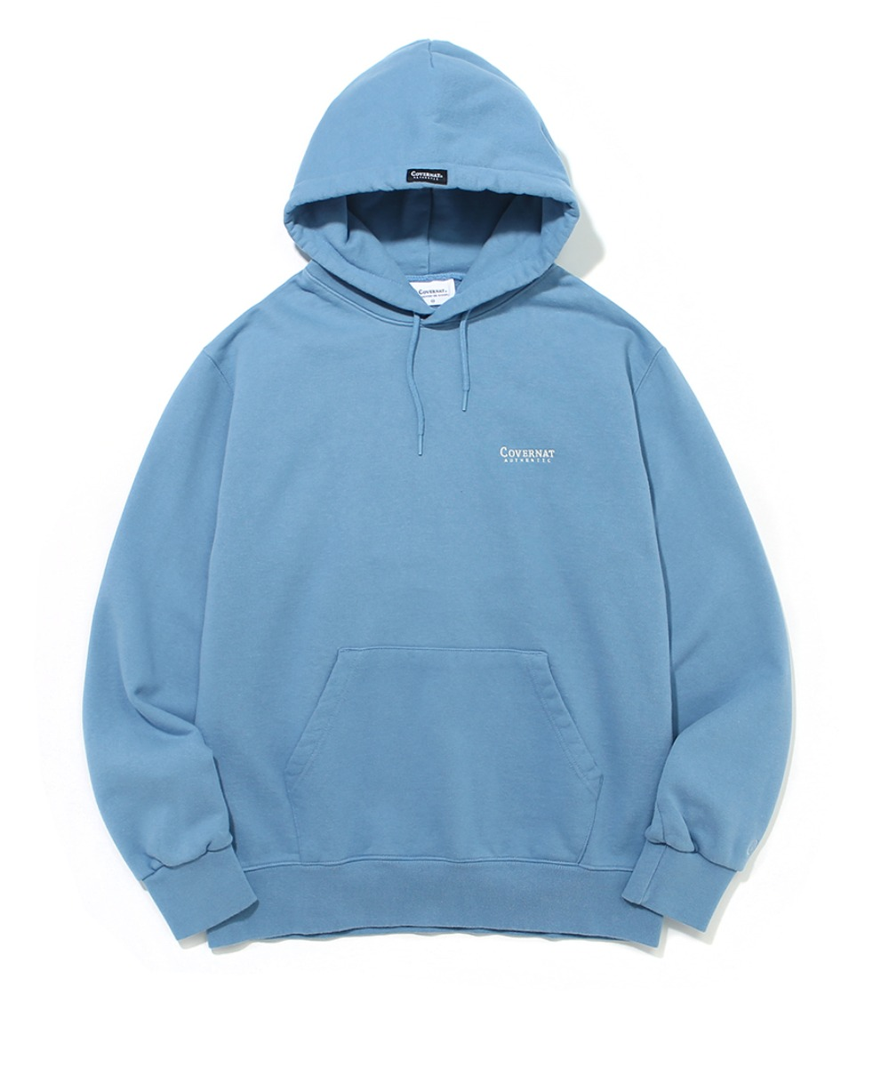 SMALL AUTHENTIC LOGO HOODIE LIGHT BLUE