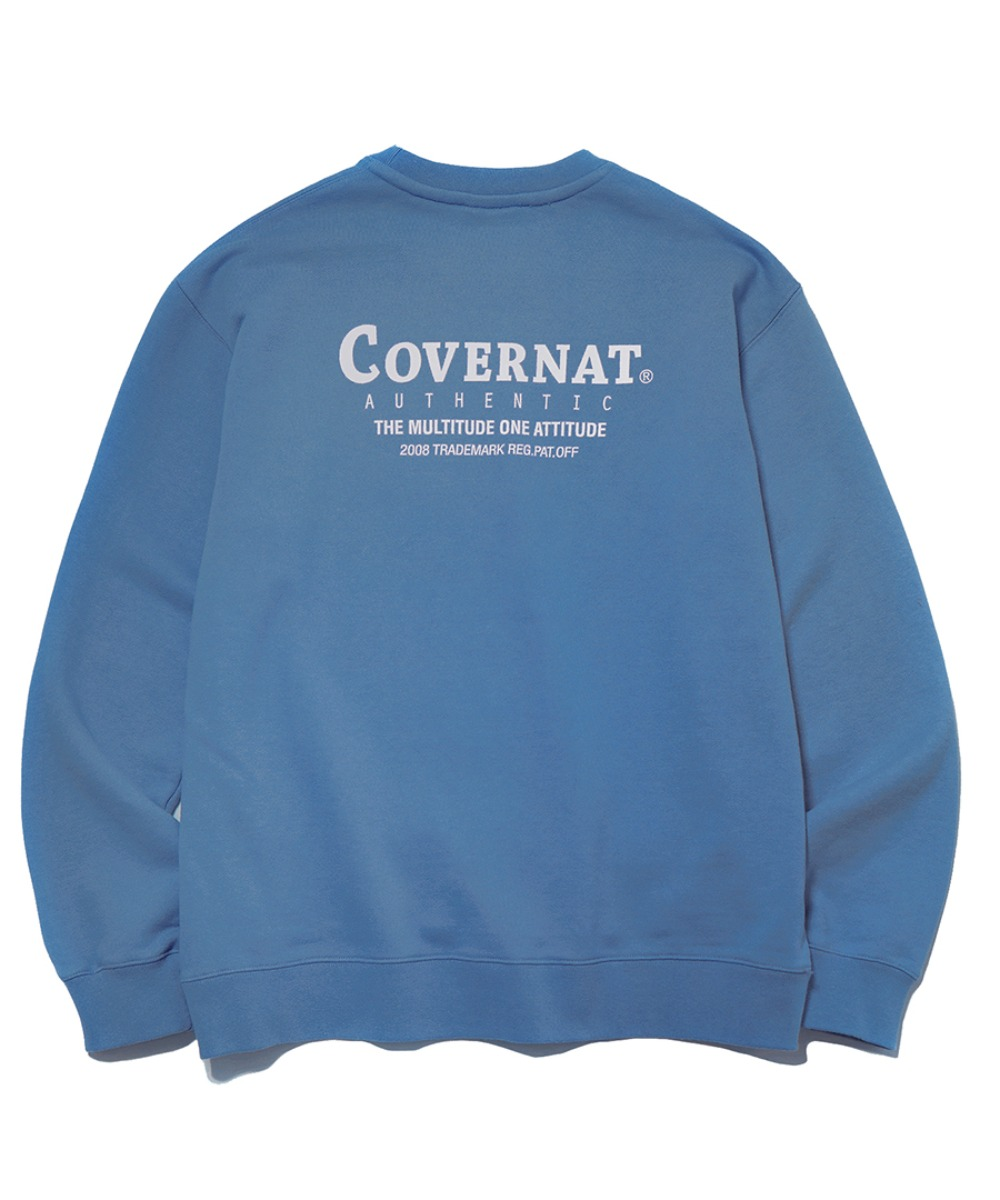 LAYOUT LOGO CREWNECK LIGHT BLUE