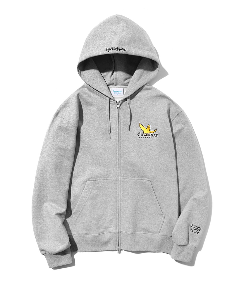 [예약발송] COVERNAT x M/G HOODIE ZIP UP GRAY