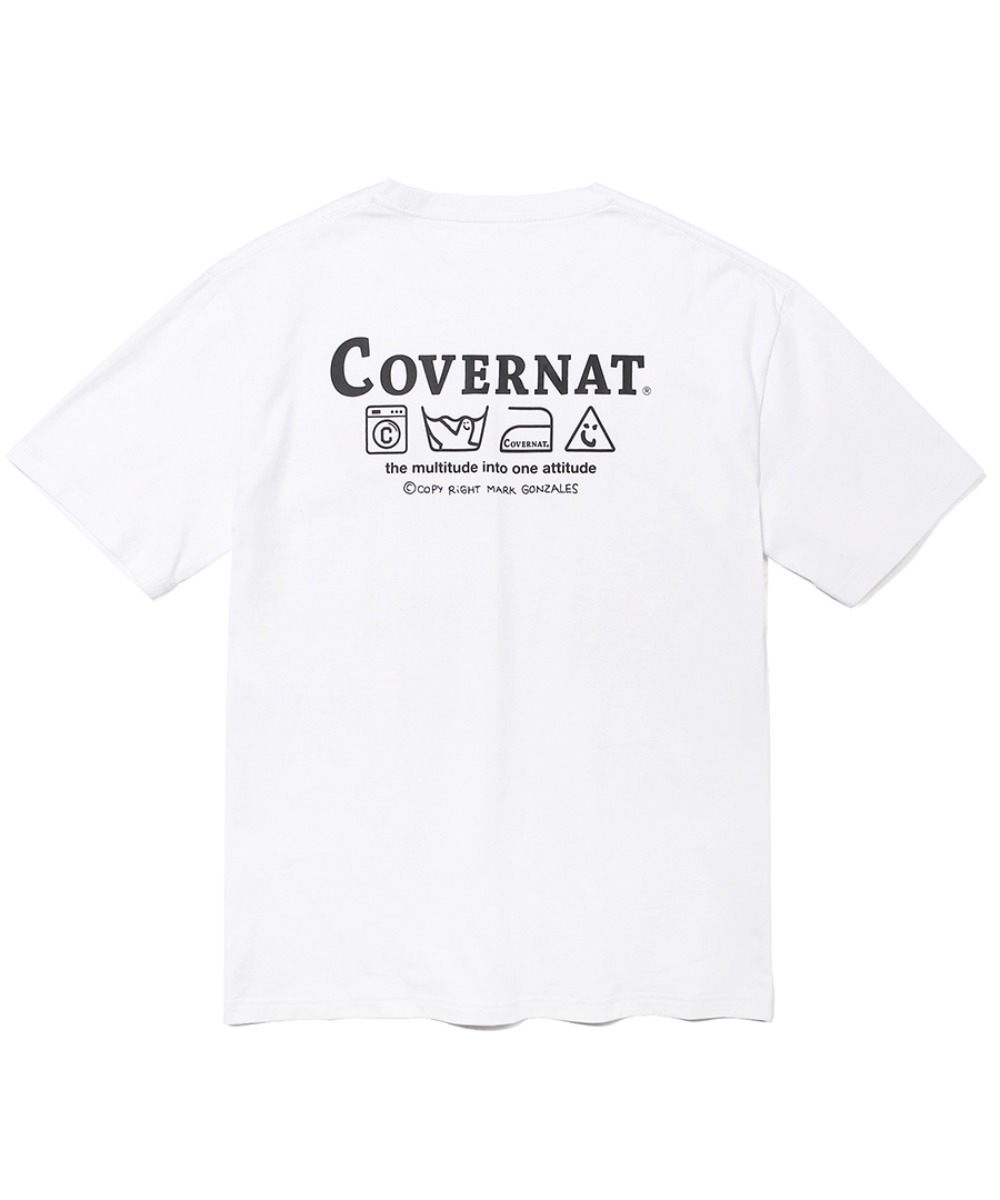 [예약발송] COVERNAT x M/G LAUNDRY LAYOUT  LOGO TEE WHITE