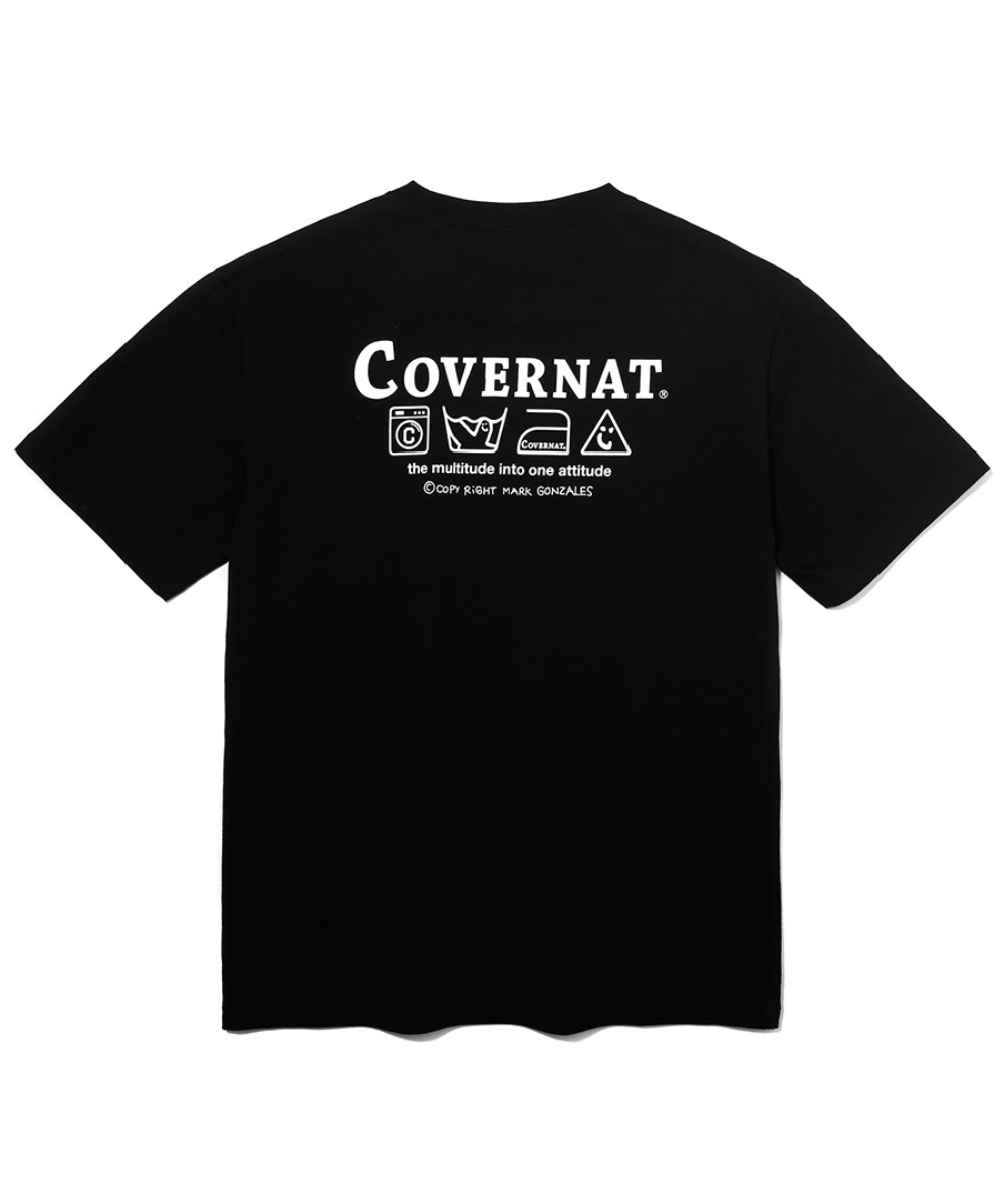 [예약발송]COVERNAT x M/G LAUNDRY LAYOUT LOGO TEE BLACK