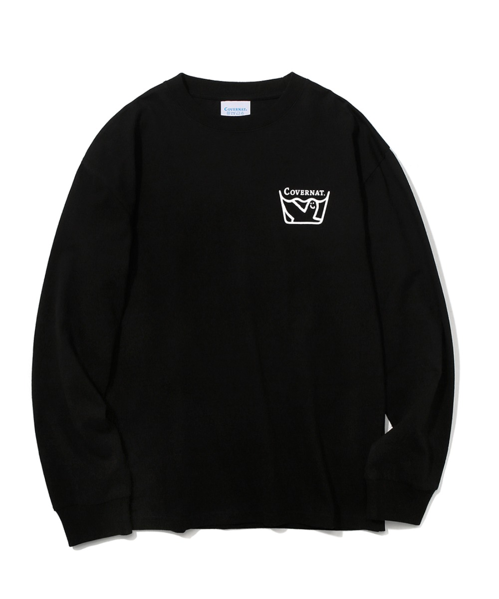 COVERNAT x M/G LAUNDRY LAYOUT LOGO LONG SLEEVE BLACK