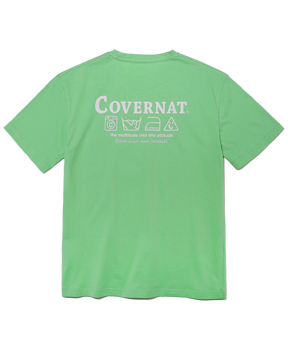 COVERNAT x M/G LAUNDRY LAYOUT LOGO TEE GREEN