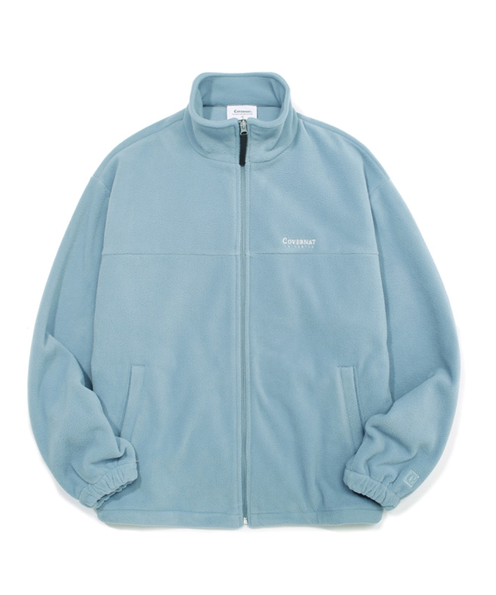FLEECE ZIP-UP JACKET DUSTY BLUE