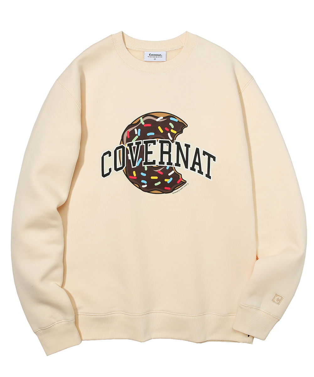 COVERNAT X DUNKIN DONUTS CREWNECK IVORY