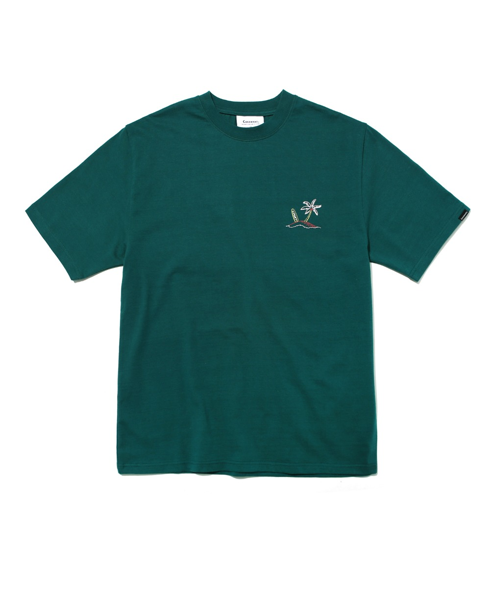 S/S SURFER MAN TEE GREEN