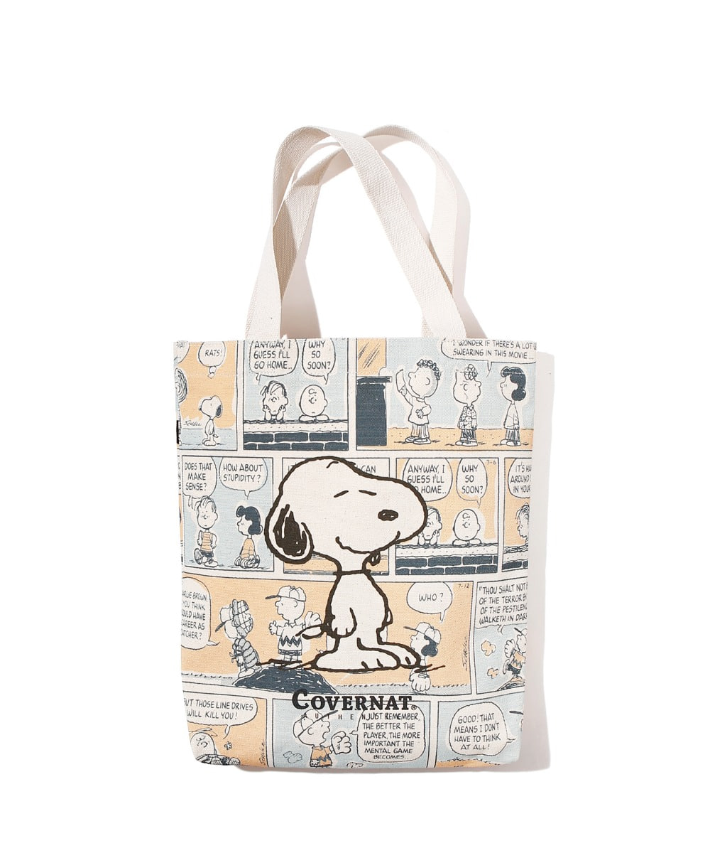 CXPEANUTS 70th SNOOPY CARTOON ECO BAG IVORY