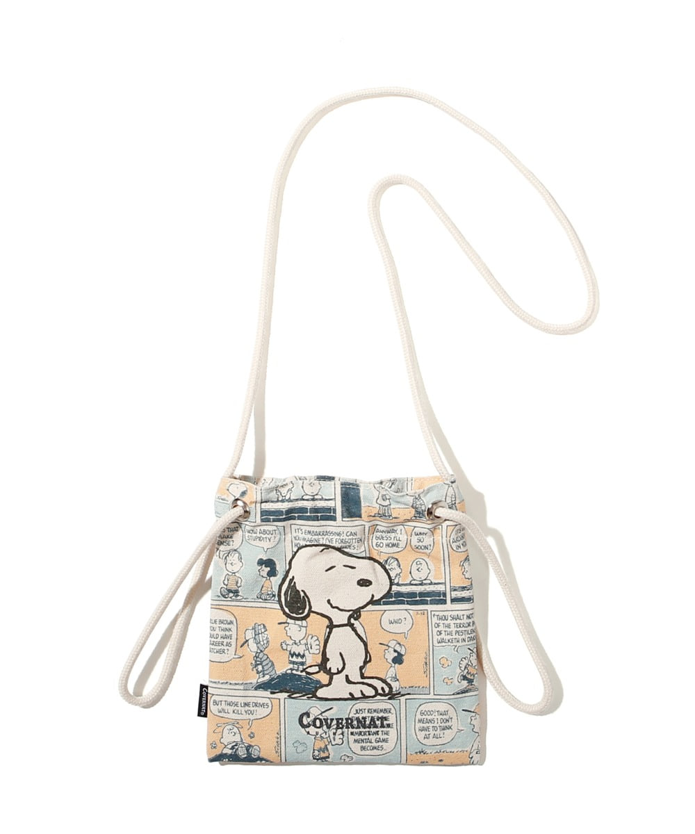 CXPEANUTS 70th SNOOPY CARTOON ECO POUCH IVORY